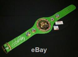 Floyd Mayweather Jr. Signed Full Size World Champion WBC Belt Tri-Star/PSA