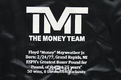 Floyd Mayweather Jr. Signed LE of 500 Career Stat Boxing Trunks BAS Witnessed