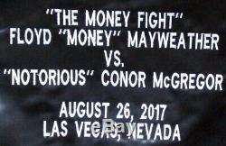 Floyd Mayweather Jr Signed McGregor Money Fight Black Boxing Trunks Beckett