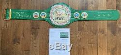 Floyd Mayweather Jr. Signed WBC Championship Belt With Inscription JSA PSA BAS