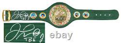 Floyd Mayweather Jr. Signed WBC World Championship Green Boxing Belt withTBE SS