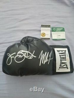 Floyd Mayweather/Manny Pacquiao AND Mike Tyson/Buster Douglas autographed gloves