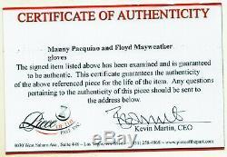 Floyd Mayweather & Manny Pacquiao Everlast Signed Boxing Glove COA PSA