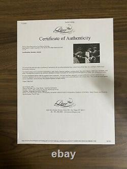 Floyd Mayweather Manny Pacquiao signed 11x14 Photo COA