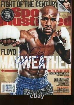 Floyd Mayweather No Label Sports Illustrated Magazine signed autographed BAS COA