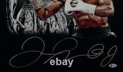 Floyd Mayweather Signed 16x20 Double Image White Gloves Photo- Beckett Auth