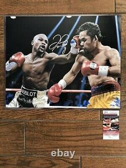 Floyd Mayweather Signed Autographed 16x20 Photo JSA Authenticated Vs. Pacquiao