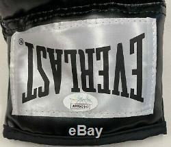 Floyd Mayweather Signed Autographed Black Boxing Glove JSA Authenticated Right
