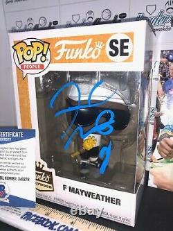 Floyd Mayweather Signed Autographed Boxing Custom 1/1 Funko Pop Beckett Bas Coa