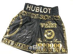 Floyd Mayweather Signed Boxing Trunks Shorts V Conor Mcgregor COA Photo Proof