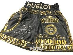 Floyd Mayweather Signed Boxing Trunks V Conor Mcgregor With Proof AFTAL COA