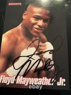 Floyd Mayweather Signed Browns 12th Set Bonus Boxing Card 1999 (LOA)