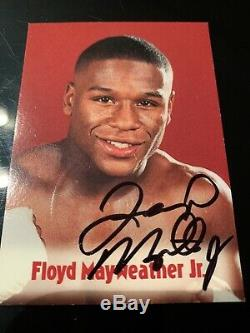 Floyd Mayweather Signed Browns 13th Set Bonus Boxing Card 2001