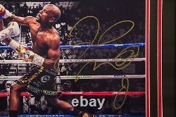 Floyd Mayweather Signed Custom Framed 16x20 Photo vs. Conor McGregor JSA COA 486