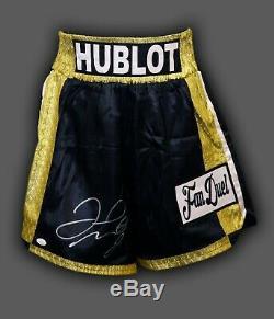 Floyd Mayweather Signed Custom Made Boxing Trunks JSA Authenticated