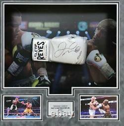 Floyd Mayweather Signed & FRAMED Boxing GLOVE REYES TBE TMT AFTAL COA (K)