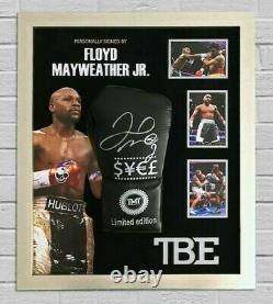 Floyd Mayweather Signed & FRAMED Boxing GLOVE TBE TMT AFTAL COA (N)