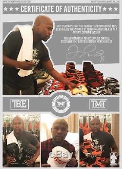 Floyd Mayweather Signed Large Canvas Las Vegas Signing Photo Proof TMT