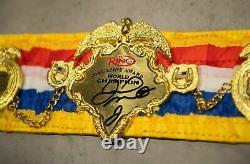 Floyd Mayweather Signed Ring Magazine Mini Belt Proof AFTAL COA