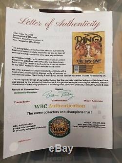 Floyd Mayweather Signed Ring Magazine WBC authenticated