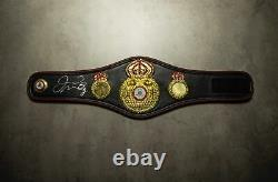 Floyd Mayweather Signed WBA Mini Belt Proof Genuine Signature AFTAL COA
