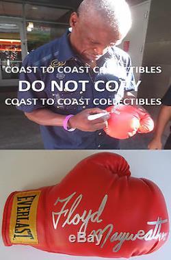 Floyd Mayweather Sr, Signed, Autographed, Boxing Glove, Coa, Exact Proof
