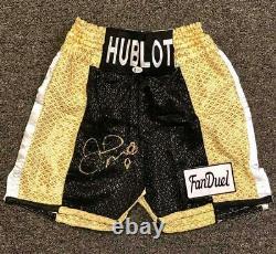Floyd Mayweather autograph signed Boxing Trunks shorts Beckett Witness BAS COA