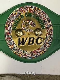Floyd Mayweather signed Boxing Championship belt autograph BAS Beckett COA