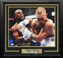 Floyd Mayweather v McGregor Autographed Signed 11x14 Framed Boxing Photo Beckett