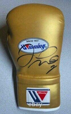 Floyd Money Mayweather Signed Auto Gold Winning Boxing Glove Psa #ai68727