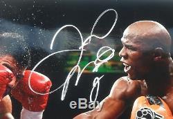 Floyd Money Mayweather Signed Autographed 16x20 Action Photo PSA Sticker