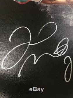 Floyd Money Mayweather Signed Autographed Canvas Photo 19.5x24 Beckett Witnessed