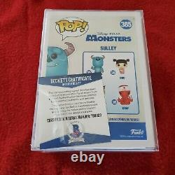 Floyd Norman Signed'Monsters IncSulley' Funko Pop #385 with Sulley Sketch BAS