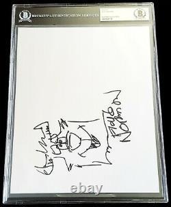 Floyd Norman Signed Sulley Sketch Art Monsters Inc University Disney Beckett Bas