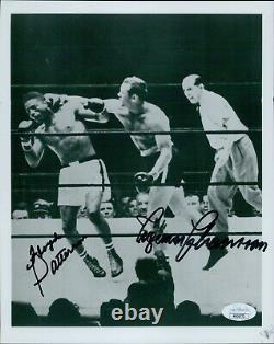 Floyd Patterson and Ingemar Johansson Signed 8x10 Glossy Photo JSA Authenticated