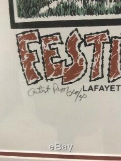 Floyd Sonnier Framed Art Print Signed Festival Poster Artist Proof 6/30