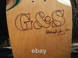 G&S Gordon and Smith AUTOGRAPHED Floyd Smith Skateboard Deck