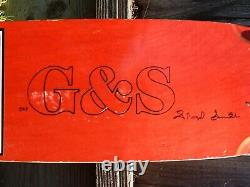 G&S Gordon and Smith Skateboard Deck AUTOGRAPHED by Floyd Smith
