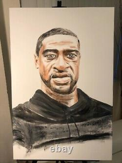 GEORGE FLOYD MATTERS PORTRAIT PAINTING 36 by 24