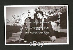 Hand Signed 9x6 photo DAVID GILMOUR Polly Samson PINK FLOYD RARE + my COA