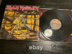 Heavy metal vinyl records Lot Megadeath Autographed By 3 Iron Maiden Pink Floyd