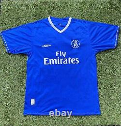 JIMMY FLOYD HASSELBAINK SIGNED Chelsea FC Shirt 2003 COA EXACT PROOF