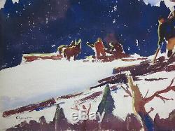 James Floyd Clymer 1920's painting CT landscape modernist artist