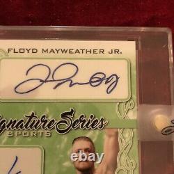 Leaf UFC Floyd Mayweather Conor Mcgregor Emerald 1/1 Auto Pre Prizm Topps 2020