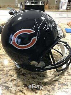 Leonard Floyd Autographed Full Size Chicago Bears Helmet JSA