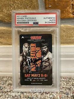 MANNY PACQUIAO SIGNED AUTO HOTEL KEY CARD MGM GRAND Floyd Mayweather PSA PROOF