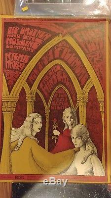 MINT Pink Floyd Joplin 1967 BG 91 Fillmore Poster 1ST Print. Artist Signed
