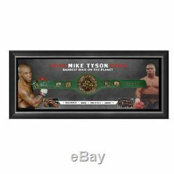 Mike Tyson Hand Signed Framed Heavyweight Champions Belt Foreman Ali Floyd
