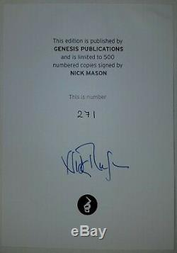 NICK MASON INSIDE OUT GENESIS PUBLICATIONS Pink Floyd Deluxe Signed