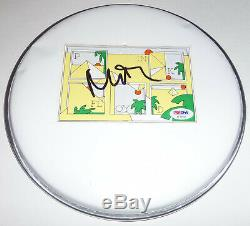 NICK MASON PINK FLOYD SIGNED 10.5 DRUMHEAD with PSA-DNA SERIAL-NUMBERED COA CARD
